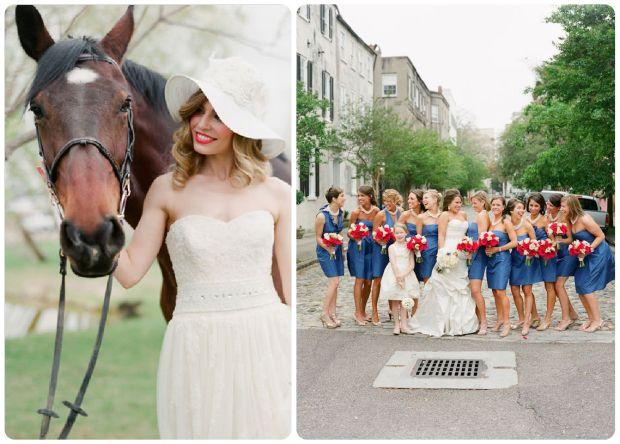 Derby bride and bridesmaids - Wedding Belles