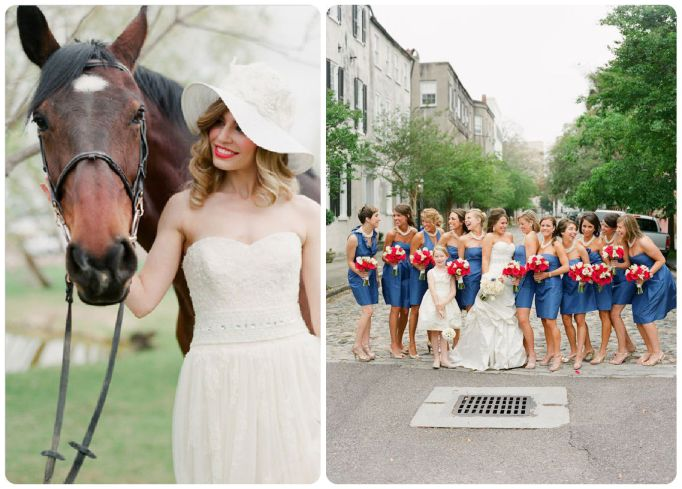 Derby bride and bridesmaids - Fairly Southern