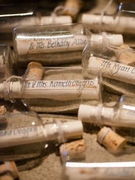 Message in a Bottle Escort Cards - Wedding Belles Blog