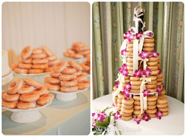 Krispy Kreme Wedding Cake - Wedding Belles Blog