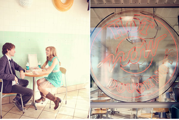Krispy Kreme Engagement Photos - Wedding Belles Blog