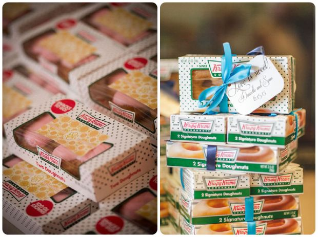 Krispy Kreme Wedding Favors - Wedding Belles Blog