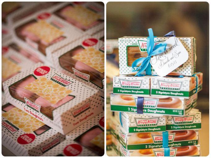 Krispy Kreme Wedding Favors - Wedding Belles Blog