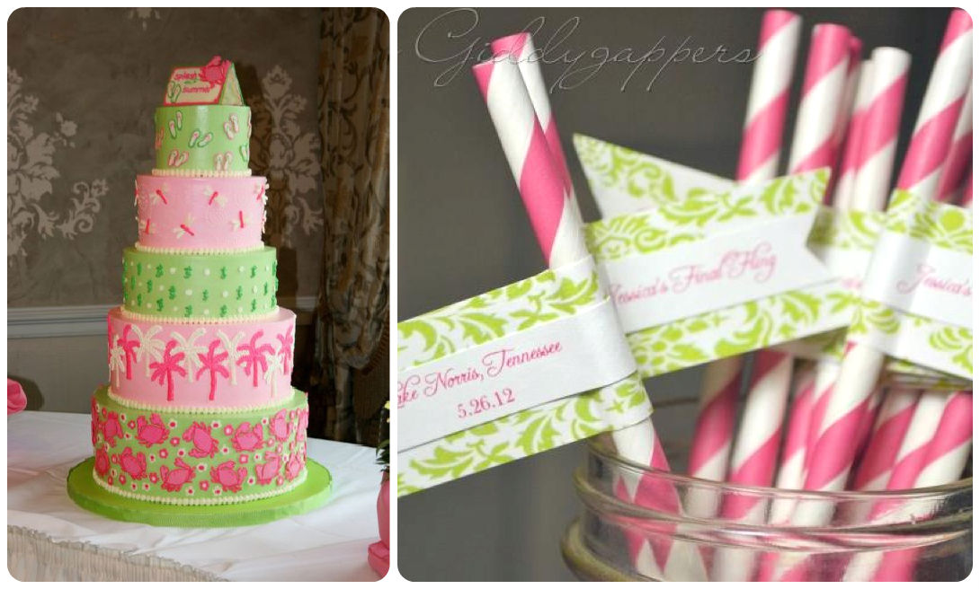 Lilly Pulitzer Wedding Inspiration in Pink and Green Fairly Southern