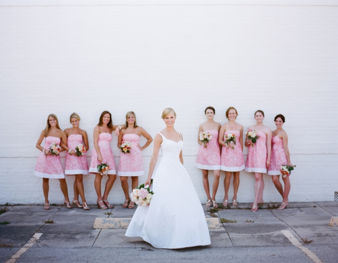 Bridesmaids in Lilly Pulitzer - Wedding Belles Blog