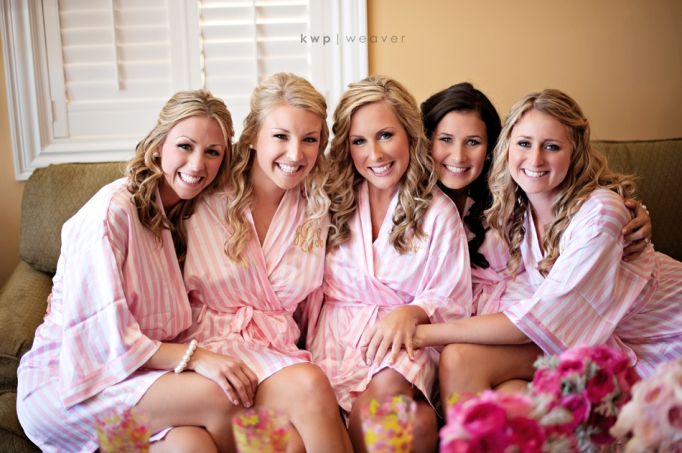 Pink Robes for Getting Ready - Fairly Southern