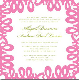 Lilly Pulitzer-Inspired Wedding Invitation