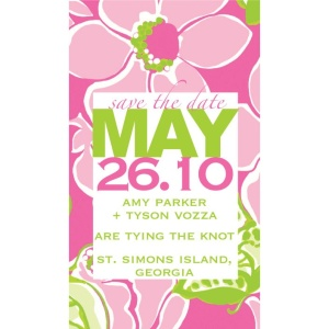 Lilly Pulitzer Inspired Save the Date  |  Fairly Southern