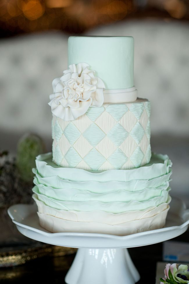 Mint Wedding Cake - Fairly Southern