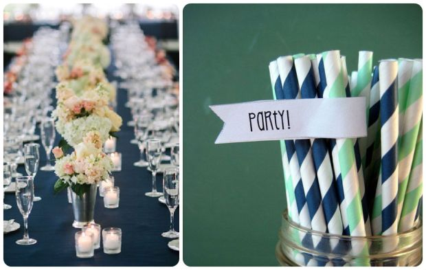 Navy + Mint Wedding Inspiration - Wedding Belles Blog