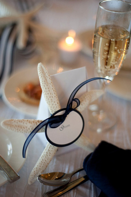 Starfish Place Card - Wedding Belles Blog