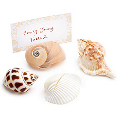 Seashell Escort Cards - Wedding Bells Blog
