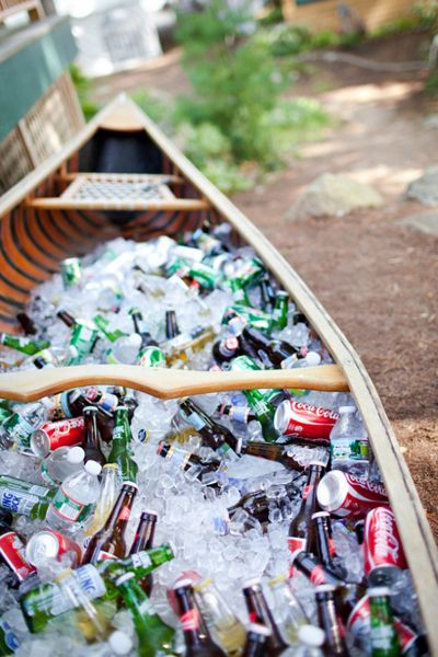 Beverage Boat - Wedding Belles Blog