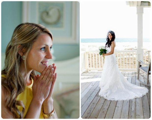 Real Wedding: Seaside Splendor in Early Spring - Wedding Belles Blog