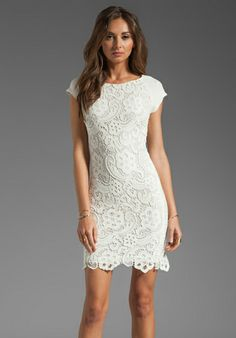 All lace dress by Rebecca Taylor - Perfect rehearsal dinner LWD! - Wedding Belles Blog