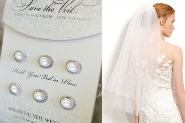 Wedding Hacks via Loverly - Use veil weights! - Wedding Belles Blog
