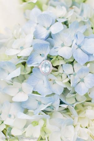 Oval Aquamarine Engagement Ring with Diamond Halo Setting - Wedding Belles Blog
