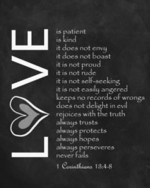 1 Corinthians 13:1-8 via Etsy - Fairly Southern