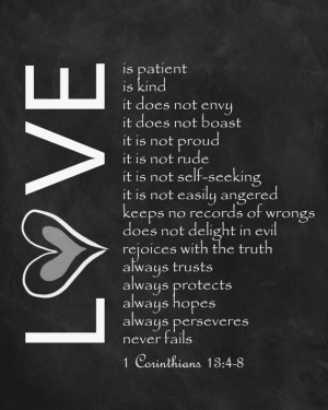 1 Corinthians 13:1-8 via Etsy - Wedding Belles Blog