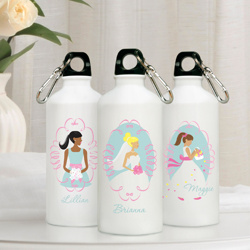 Personalized Bride/Bridesmaid Water Bottles