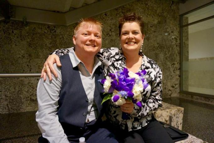 Tonya and Amy - North Carolina Marriage Equality - Wedding Belles Blog