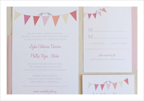 FREE Bunting Wedding Invitation Suite by Wedding Chicks - Wedding Belles Blog