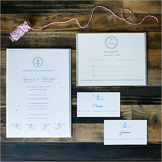 FREE Nautical Wedding Invitation Suite by Wedding Chicks - Wedding Belles Blog