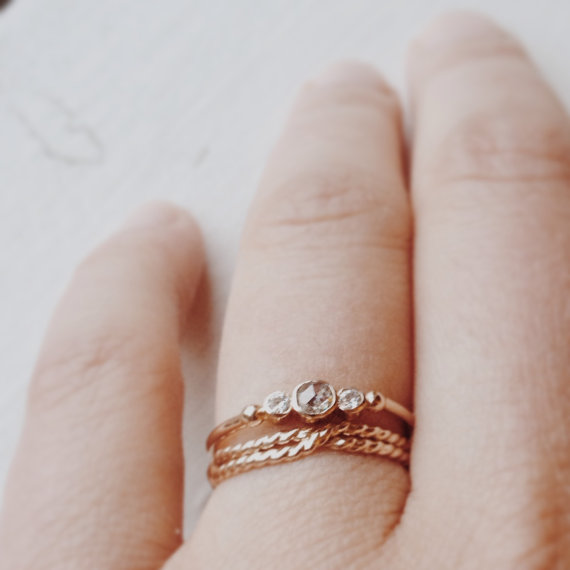 """Between You and Me"" Gold and Moissanite Engagement Ring - Wedding Belles Blog"