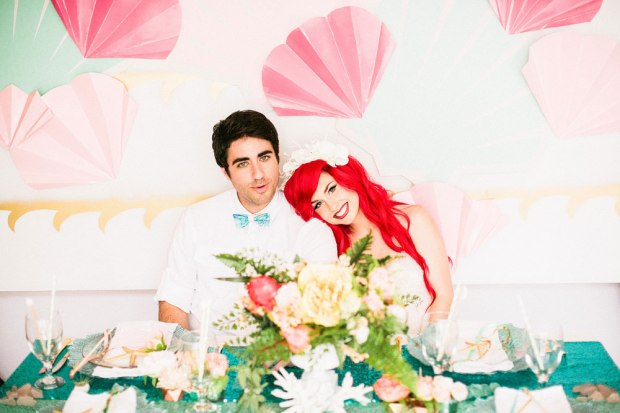 Hipster Little Mermaid Wedding Inspiration via Loverly - Wedding Belles Blog