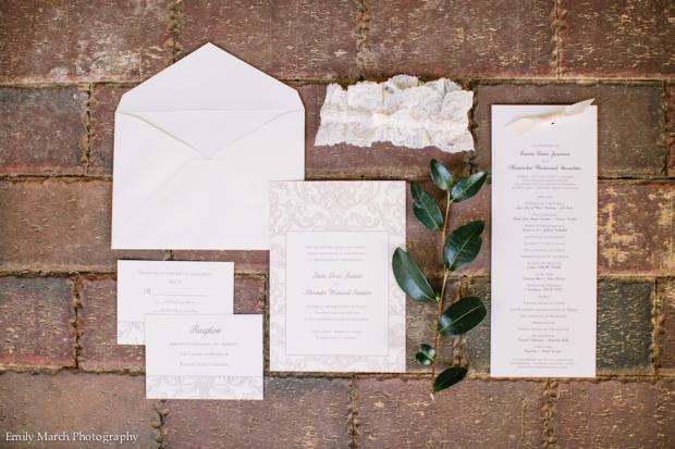 Ecru Invitation Suite - Wedding Belles Blog