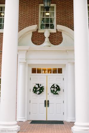 Church Door Wreaths - Wedding Belles Blog