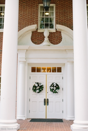 Church Door Wreaths - Wedding Belles Blog