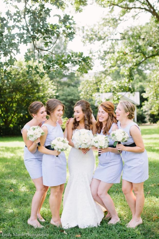 Seersucker bridesmaid dresses - Fairly Southern