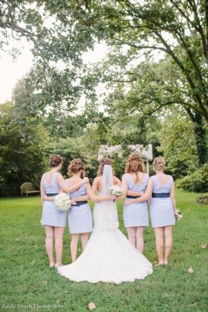 Seersucker bridesmaid dresses - Wedding Belles Blog