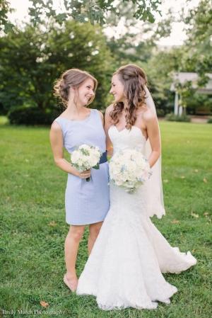 Seersucker bridesmaid dress - Wedding Belles Blog