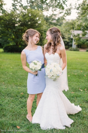 Seersucker bridesmaid dress - Wedding Belles Blog