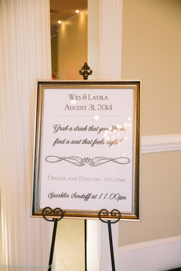 Wedding Reception signage - Fairly Southern