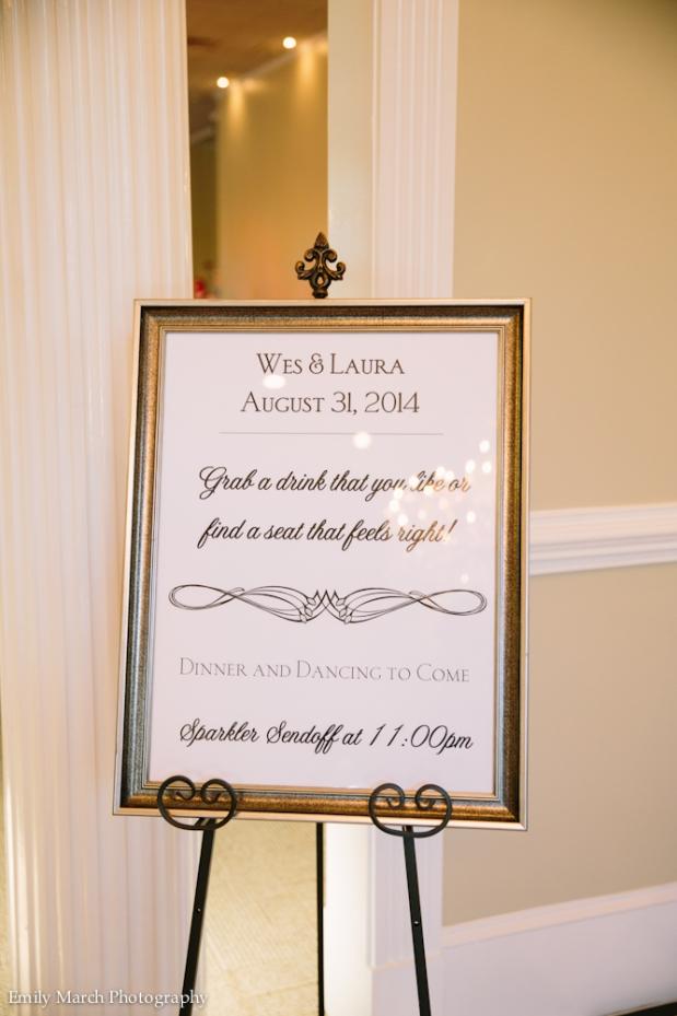 Wedding Reception signage - Fairly Southern