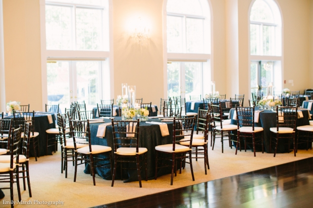 Navy Wedding Reception - Wedding Belles Blog