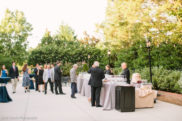 Bar on the Patio with Twinkle Lights - Wedding Belles Blog