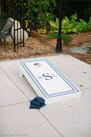 Custom Monogram Cornhole Set - Wedding Belles Blog