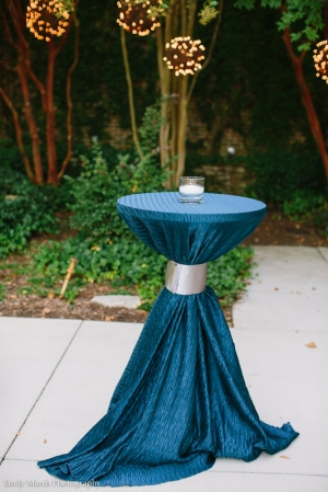 Navy Cocktail Tables - Wedding Belles Blog