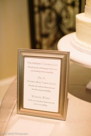 Wedding Cake Flavor Sign - Wedding Belles Blog