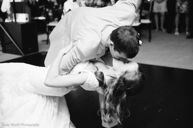 Bride and groom first dance - Wedding Belles Blog