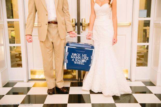Wedding Day Painted Cooler - Wedding Belles Blog