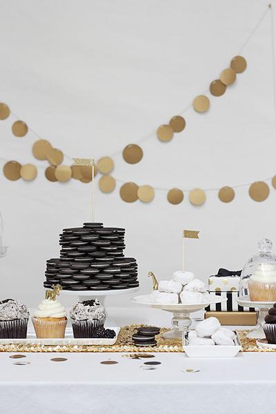 White Dessert Table via SaveOnCrafts - Wedding Belles Blog