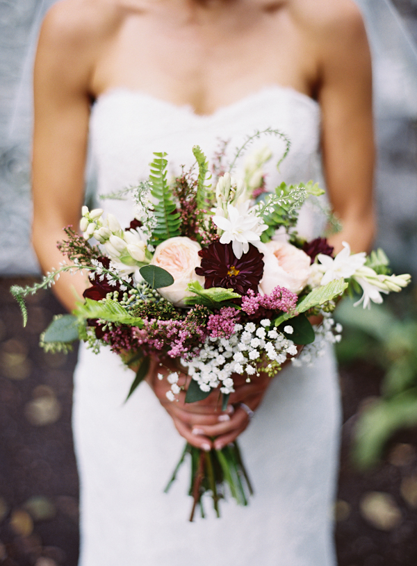 Plum Wedding Bouquet - Wedding Belles Blog