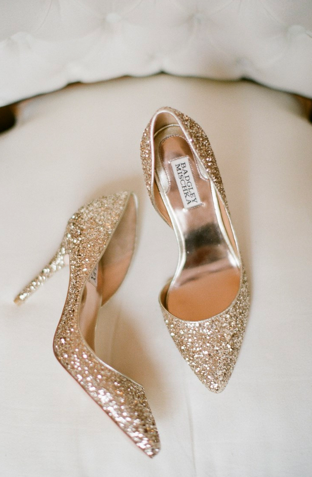Gold Badgley Mischka Pumps: Perfect for a New Year's Eve Wedding - Fairly Southern