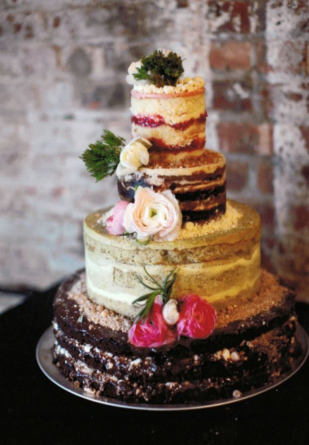 Least Favorite Wedding Trend of 2014 - Naked Wedding Cakes - Wedding Belles Blog