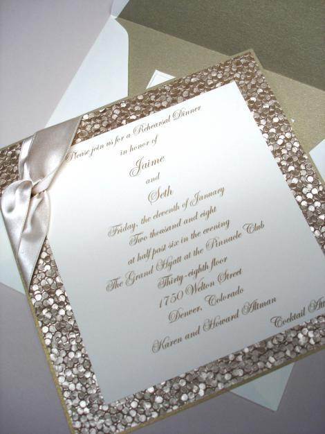 Gold Glitter Wedding Invitation: Perfect for a New Year's Eve Wedding! - Fairly Southern